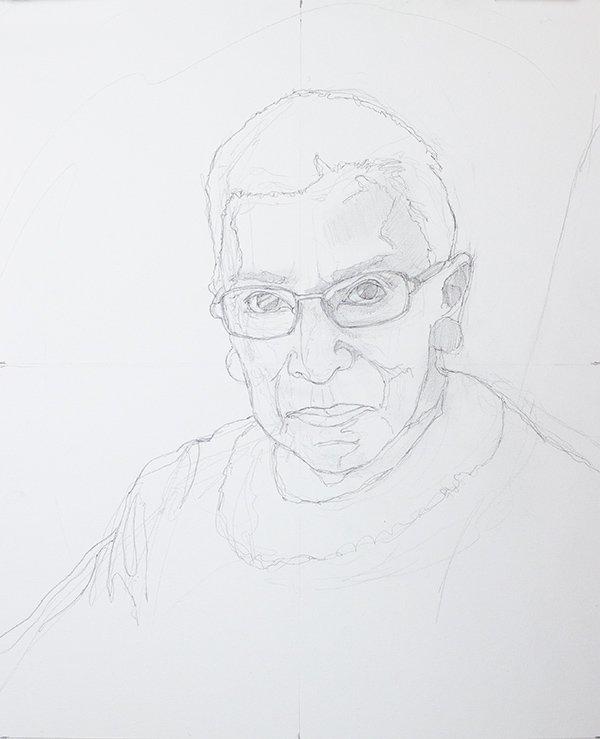 Ruth Bader Ginsberg drawing
