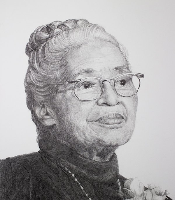Rosa Parks Drawing detail